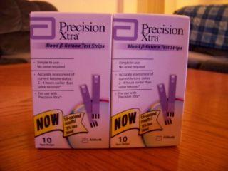 Precision Xtra Blood Ketone Test Strips 3 Boxes 30 Strips Expire 08 31 2014