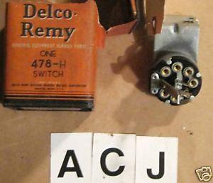 1933 34 35 36 37 International Truck Combination Light Switch Delco Part 478H