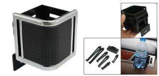 Car Interior Black Plastic Adjustable Air Vent Drink Bottle Cup Holder
