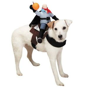 Zack Zoey Saddle Headless Horseman Dog Halloween Costume Pet Dogs Costumes