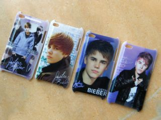4pcs New Justin Bieber Hard Back Cover Case for Apple iPod Touch 4th JB4BT4