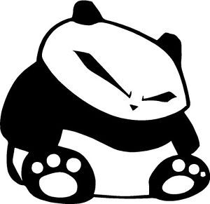 Panda Black Obey JDM Race Drift Car ILLEST Decal Sticker
