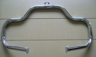 Chrome Mustache Engine Guard Highway Crash Bar Harley Davidson Softail FL Models
