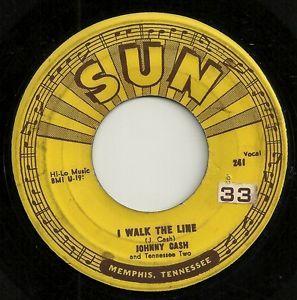 Lot of Twenty Five Country Music 45s Johnny Cash on Sun