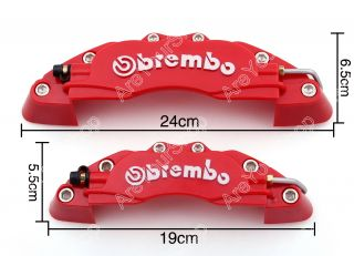 4pcs Front Rear 3D Brembo Style Disc Brake Caliper Covers Universal Red