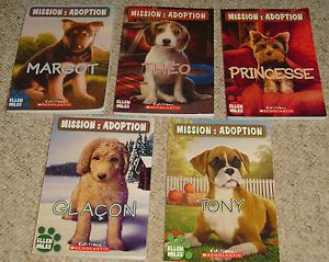 Lot 5 French Puppy Place Chapter Books Mission Adoption Ellen Miles Scholastic