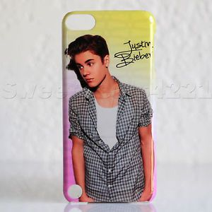 Apple iPod Touch 5th Generation Pink Yellow Justin Bieber Beiber Case Cover New