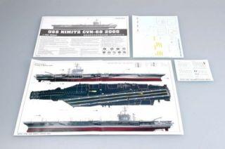 Trumpeter Aircraft Carrier 5739 USS Nimitz CVN 68 2005 1 700 Scale Model Kit