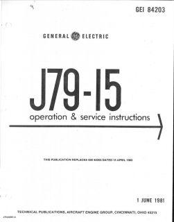 General Electric J79 Jet Engine Maintenance Service Manual RARE Detail Archive