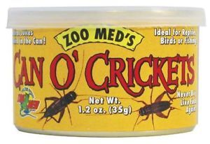 Zoomed Can O Crickets 1 2oz Bearded Dragon Iguana Reptile Food