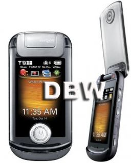 New Motorola Krave ZN4 Grey Verizon CDMA Flip Phone B