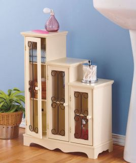 3 Step Cabinets Console CD DVD Shelves Accent Table Decor Storage Organizer Book