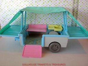 Genuine Fisher Price Loving Family Dollhouse Pop Up Family camper Cute
