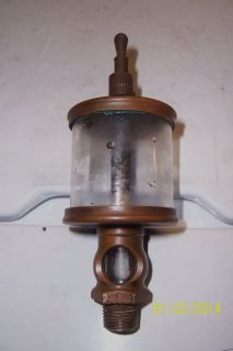 Lunkenheimer Sentinel No 2 Brass Oiler Lubricator Steam Engine Tool