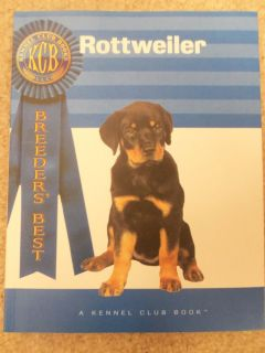 Rottweiler Dog Puppy Guide A Kennel Club Book Breeders' Best