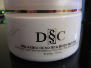 """New Deep Sea Cosmetics Dead Sea Body Butter Dead Sea Salt Scrub Combo DSC"""