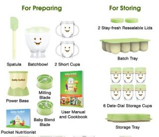 Magic Baby Bullet Homemade Baby Food Storage Containers