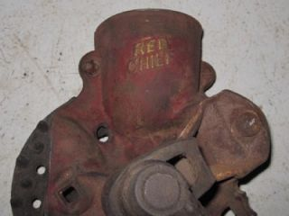 Antique Red Chief Corn Sheller Primitive Farm Tool Patd 98 Original Paint