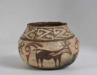 Early Zuni Pueblo Pottery Jar Olla Southwest Native American Indian New Mexico