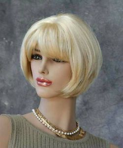 Jasmine Wigs Short Blonde Layered Bob Wig Skin Part New