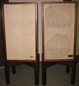 Acoustic Research AR 2AX Speakers with Original Stands Vintage AR
