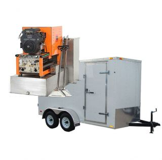 30HP Truck Mount Carpet Tile Air Duct Cleaning Equipment Cleaner Trailer Pkg