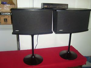 Bose 901 Series VI Speakers Equalizer Stands Black Excellent Cond