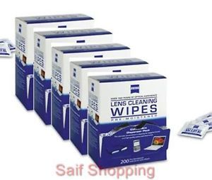 1000 Count Zeiss Pre Moistened Cleaning Cloth Wipes 4 Eyeglasses TV Camera Lens