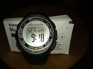 Casio Wave Ceptor Digital Watch WV 50H Module 2406 Atomic Clock Radio Controlled