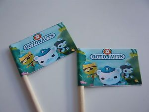 20 Cupcake Flags Toppers Octonauts Childrens Birthday Party