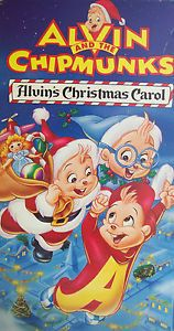 "Alvin The Chipmunks Simon Theodore ""Alvin's Christmas Carol"" VHS Tape"