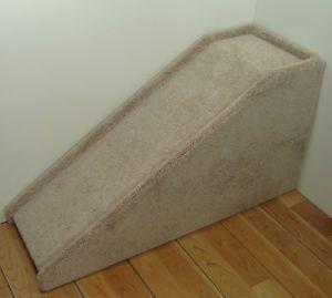"24"" Tall Wooden Dog Ramp Real Carpet Handmade Pet Steps Dog Steps Cat"