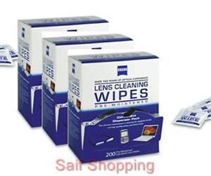 600 Count Zeiss Pre Moistened Cleaning Cloth Wipes 4 Eyeglasses TV Camera Lens