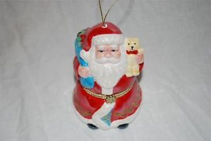 Mr Christmas Santa Claus Christmas Porcelain Music Box Holiday Ornament Mint