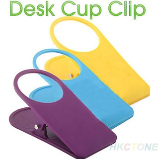 Home Office Supplies Water Glass Cup Coffee Mug Holder Clip Desk Table Folder