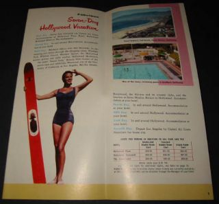Old 1955 California Travel Brochure United Airlines