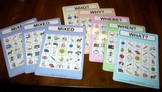 """WH"" Bingo Game Speech Autism PDD Reading Pecs ABA VB"