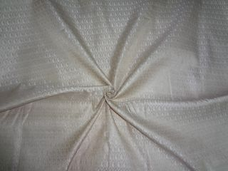 Spun Viscose Brocade Fabric Cream Metallic Gold Color
