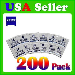 200 Zeiss Pre Moistened Lens TV Laptop Cell Phone Screen Cleaning Cloths Wipes