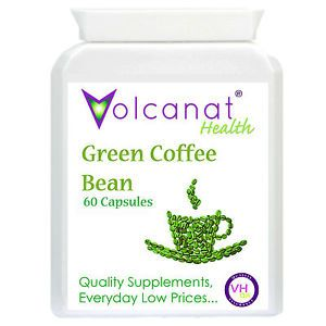 60 Green Coffee Bean Pills Bottle Volcanat Diet Supplements Weightloss Advice