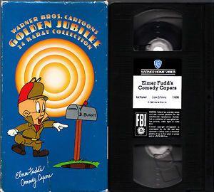 Elmer Fudd's Comedy Capers VHS Warner Bros Cartoons Golden Jubilee 24 Karat Col