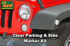 JK CR 4 Jeep Wrangler 2007 2012 Clear Parking Side Marker Lamp Kit Sidemarker