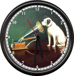 RCA Victor Victrola Nipper Dog Radio Sales Service Dealer Retro Sign Wall Clock