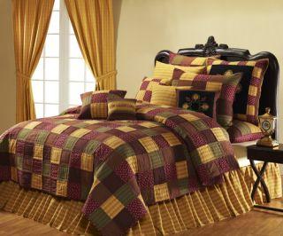Victorian Heart Welcome 6pc Queen Quilt Set Beding