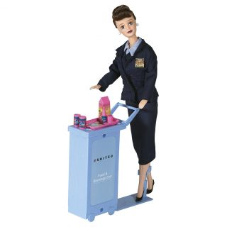 New Collectible United Airlines Flight Attendant Doll