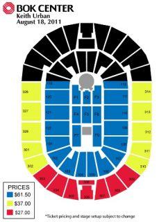 2 Keith Urban Tickets Tulsa OK Bok Center