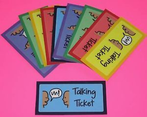 Talking Tickets Autism Pecs Speech ABA Therapy