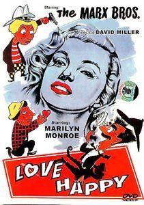 "1949 Comedy Marilyn Monroe Marx Brothers ""Love Happy"""