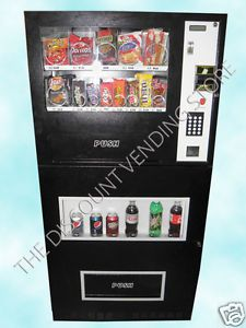 Genesis Snack Soda Combo Combination Vending Machine w Dollar Bill Coin Changer