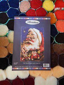 "Herrschners ""Old World Santa"" Christmas Latch Hook Kit 27"" x 40"" Complete Kit"